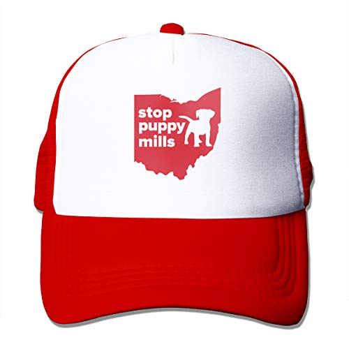 Ohio Hat Classic - Rppuer Stop Puppy Mills Ohio Adjustable Classic Mesh Hat for Men&Women Red One Size