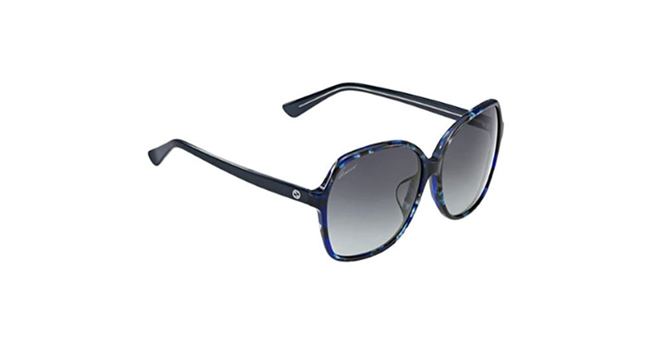 3dd8bac8e Amazon.com: Gucci Asian Fit Blue Havana Sunglasses: Clothing