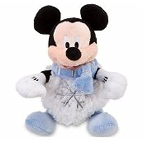 """Out of Production Retired Disney Winter Wonderland Christmas 6"""" Mickey Mouse Snowball Plush Doll"""