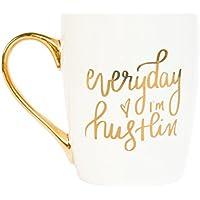 Everyday I'm Hustlin' Gold Coffee Mug, Gold, Gift for Boss, Gift for Her, Girl Boss, Coffee Mugs, Boss Lady, Motivational Mug, Mug Gold Foil