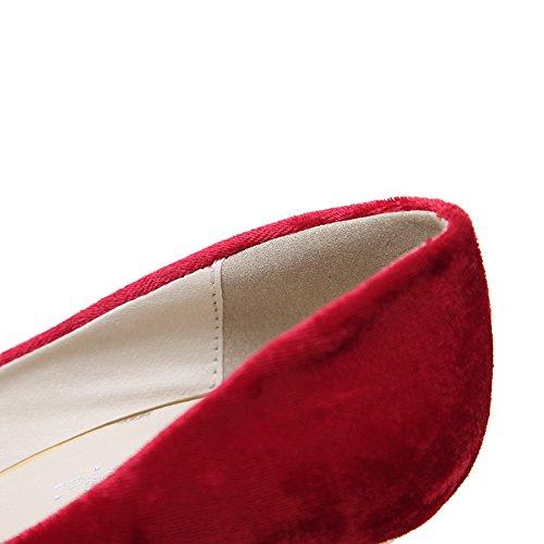 Sconosciuto 1TO9Mmsg00150 - Sandali con Zeppa Donna, Rosso (Red), 35 EU