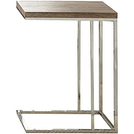 Steve Silver Company Lucia Chairside End Table 10 X 18 X 25 Brown