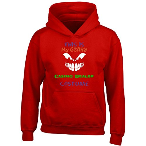 All Causes This is My Scary Casino Dealer Halloween Costume - Boy Boys Hoodie Kids M Red
