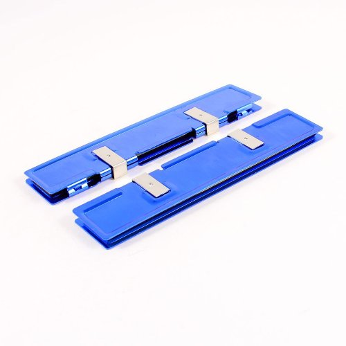 SODIAL(R) 2 Pcs Blue Aluminum Heatsink Shim Spreader Cooler Cooling for DDR RAM (Memory Cooler)