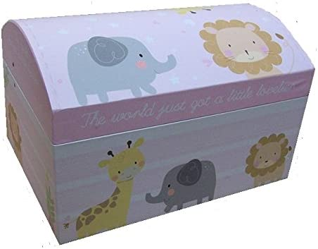 Con bisagras de recuerdos para bebé niña cofre del tesoro caja de juguete y de almacenamiento Caja bebé ducha medio 45 cm: Amazon.es: Bebé