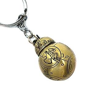 Teri's Boutique Star Wars Movie BB-8 Robot Men Teen Fan 3D Keychains (Gold)