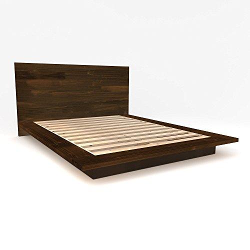 Modern Floating Platform Bed Frame with Headboard