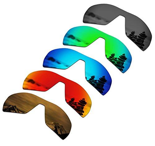 SmartVLT Set of 5 Men's Replacement Lenses for Oakley Offshoot Sunglass Combo Pack ()