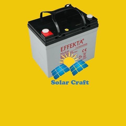 Gel de Batterie AGM Panneau solaire Chargeur é nergie photovoltaique BTL 12V 33Ah EFFEKTA