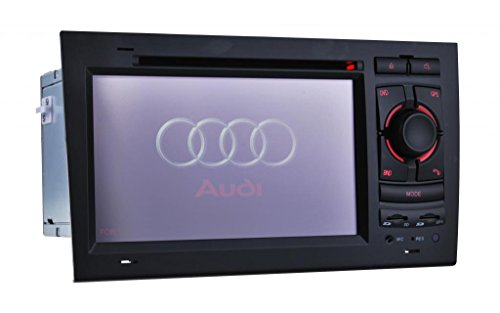 Generic 7-Inch Car Audio System for Audi A4 2002 2003 2004 2005 2006 2007 2008 with Car Entertainment Steering Wheel Control