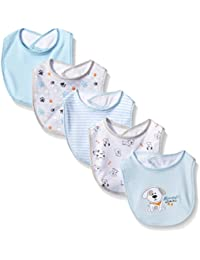 Baby Girls' Butterfly Assorted 5 Pack Bib Set