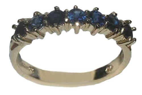 14k Yellow Gold Natural Sapphire Womens Eternity Ring - Sizes 4 to 12 Available (Natural Sapphire 14k Yellow Gold)