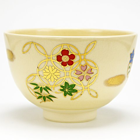 Bowl Cloisonne - Matcha bowl 'Flower Cloisonne ' year-round products