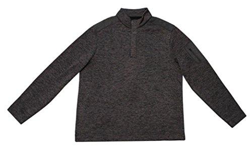 Greg Norman 1/4 Button Fleece Pullover Sweater (XL, Navy) Fleece Microfiber Sweater
