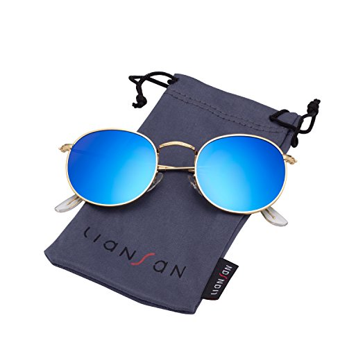 616e0c3d93 LianSan Classic Metal Frame Round Circle Mirrored Sunglasses Men Women  Glasses 3447 - Buy Online in UAE.