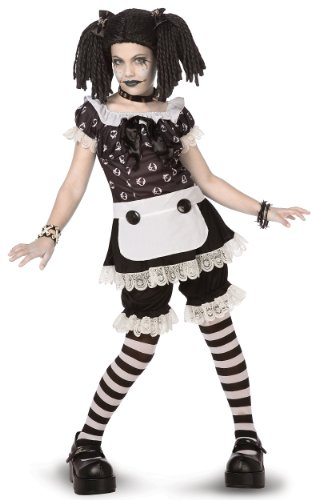 Rag Doll Costume Makeup (Palamon - Gothic Rag Doll Child/Tween Costume - Medium (8-10))