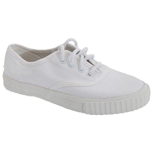 Dek - Zapatillas de gimnasia para niño Blanco