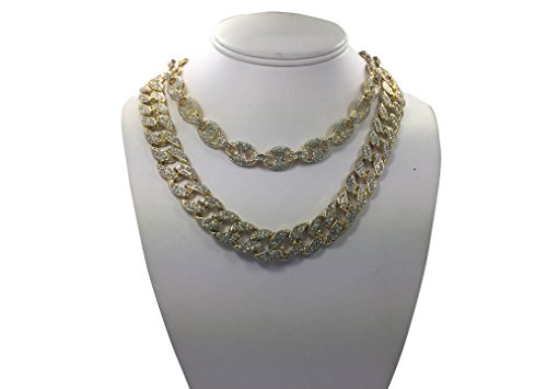 16' Cuban Link Chain (Gold Plated 16' Pig Nose G Link Chain + 20