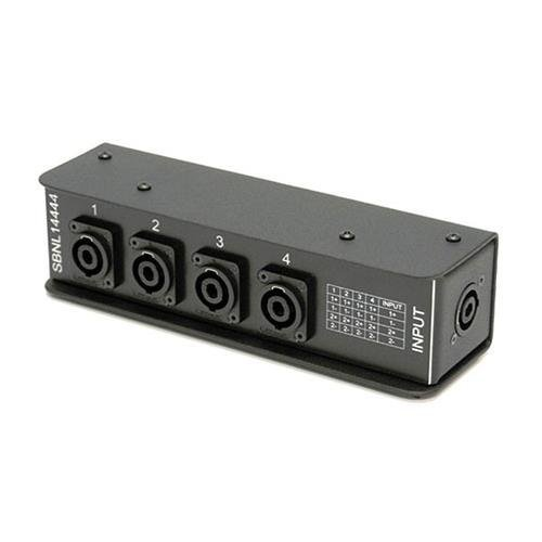 Whirlwind SBNL 1x NL4 to 4x NL4 Parallel-Wired SpeakOn Splitter for Multiple Speaker Cabinet