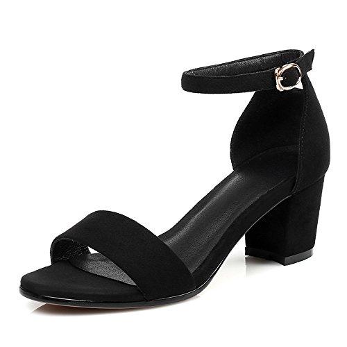 Negrita Zapatos Sandalias Con Ranurada Verano Como Xzgc Femenino De Corbata Rocío Negro En CB0qdBwfz