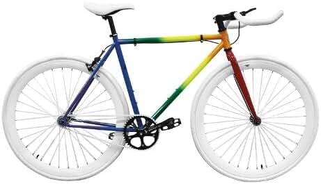 Zycle Fix ZF-PRDE-48 Pride Fixed Gear Bike, 48cm/One Size Frame