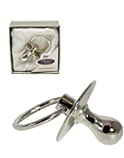 SILVER PLATED DUMMY NEW BABY GIFT PRESENTED IN GIFT BOX