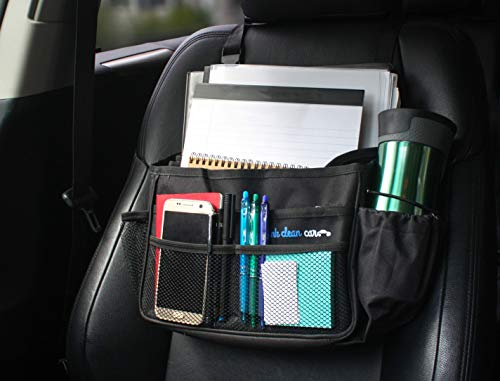 Think Clean Car Front Seat Organizer (Black -13.8