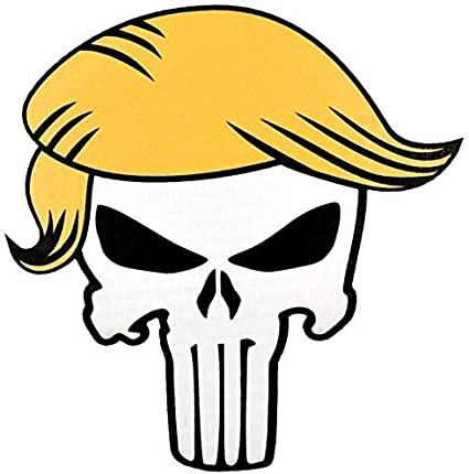3.5 inch Printed Patch Punisher Trump Hair