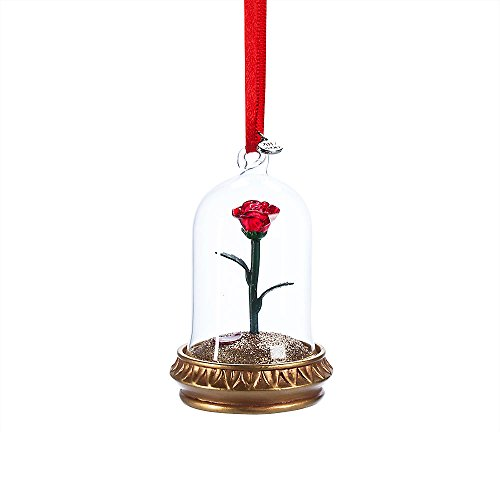Disney Enchanted Rose Light-Up Sketchbook Ornament - Beauty and the Beast (Rose Christmas Ornaments)