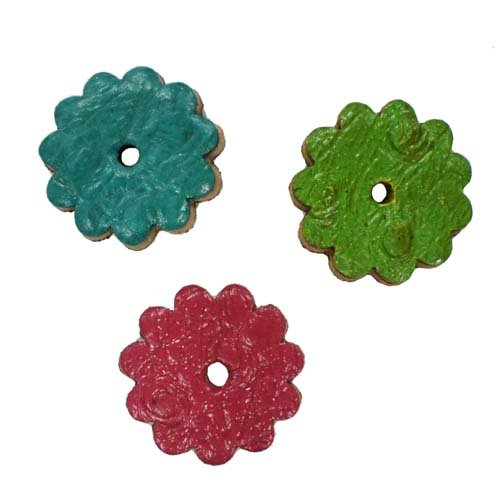 Tahoe Tack Ostrich Print 1 inch Leather Rosettes Lot of 6 - Turquoise ()
