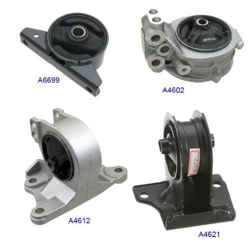 A4602 A4612 A4621 A6699 Fits: 99-03 Mitsubishi Galant 2.4L Motor & Trans Mount 4PCS Kit For Auto Trans. 99 00 01 02 03 (Mitsubishi Galant Transmission Mount)