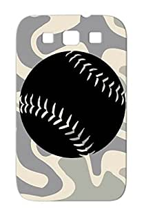 Baseball Sports Fastpitch Fast Pitch Baseball Softball Black Softball Fastpitch Protective Case For Sumsang Galaxy S3
