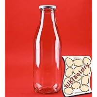 8 botellas vacías de vidrio 1000 botellas