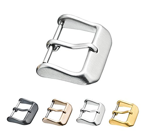 16mm Buckle - Replacement Steel Buckle for Watch Bands - Leather Watch Straps Clasp in Silver Color - 16 mm
