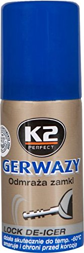 K2  lock de-icer, defrosting spray, frees your car from ice, 50 ml