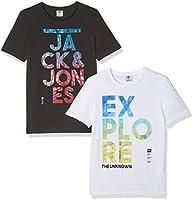 JACK & JONES Camiseta para Hombre (Pack de 2)