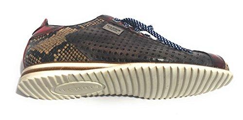 Harris Scarpe Uomo Sneaker Pitone/Rosso Shade/Yes Cenere LASERATO U17HA62 (5UK - 39 IT)