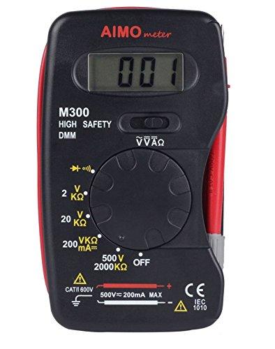 Aimometer M300 Mini Multimeter Handheld Digital DMM DC AC Ammeter Voltmeter Ohm (Dmm Digital Multimeter)