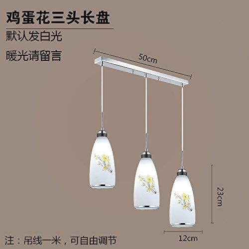 Luckyfree Kreative Moderne Mode Anhänger Leuchten Deckenleuchte Kronleuchter Schlafzimmer Wohnzimmer Küche, Nehmen Sie eine lange 12 Watt Led Lampe