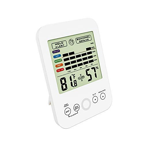 Dr. Prepare Digital Hygrometer Accuracy Indoor Thermometer Humidity Monitor Temperature Humidity Gauge Mold Alert by Dr. Prepare