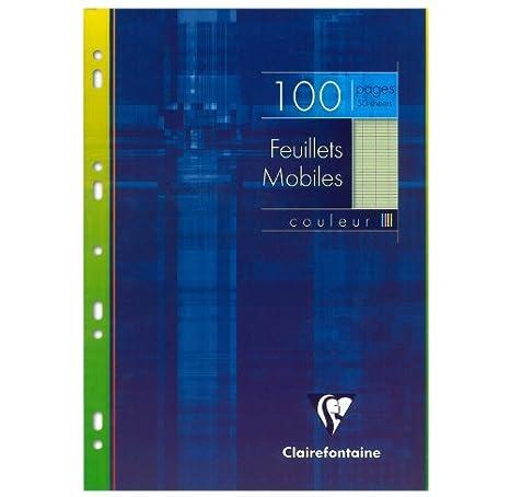 Clairefontaine 1741C Eine Packung mit 100 losen Bl/ättern 21 x 29,7 cm gro/ße Fliesen Blau Farbseiten