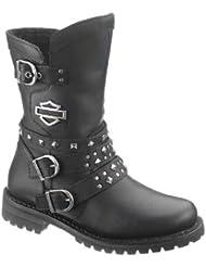 Harley-Davidson Womens Adrian Black Leather Mid Cut Boot