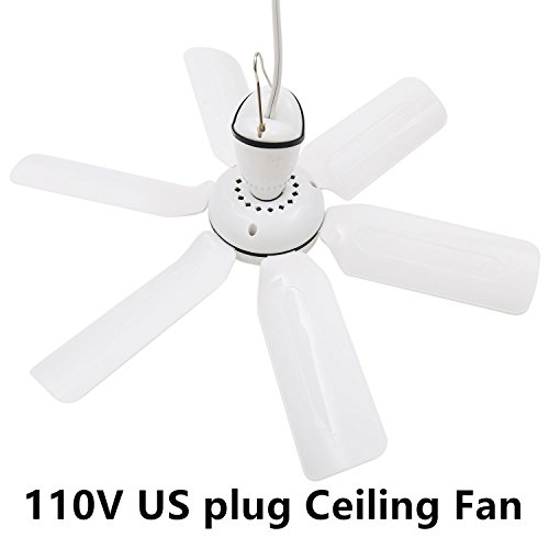 Ceiling Plug - SENREAL Portable Ceiling Fans Electric Energy-saving Fans Anti-mosquito Mute Mini Ceiling Fan (110V)