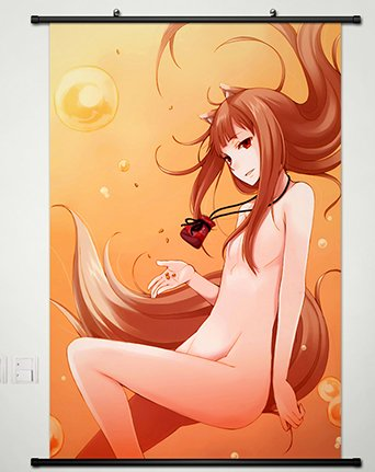 Home Decor Anime Ookami to Koushinryou/Spice and Wolf Holo scroll poster Cosplay 23.6x35.4 Inches -158