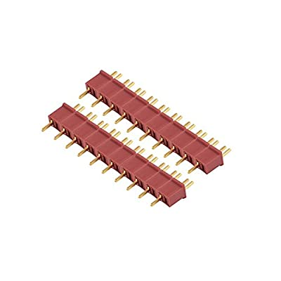 WST Red Ultra Mini T Plug Connectors Micro Deans for RC LiPo NiMh Battery Male and Female (10 Pairs): Toys & Games