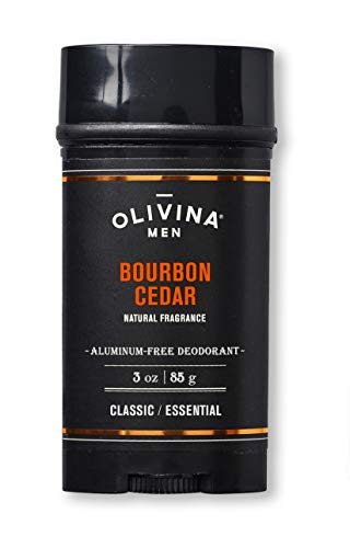 Olivina Men Aluminum Free Deodorant, Bourbon Cedar, 3 oz.
