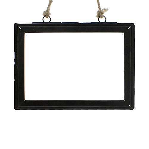 Clear Bronze Wall Flat (5x7 Horizontal Rustic Metal Hanging Ornament Frame | Photo Picture Pressed Flower Glass)