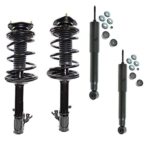 (DTA 70172 Full Set -2 Front Complete Strut Assemblies With Springs and Mounts 2 Rear Shocks OE Replacement Fits 1996-2000 Toyota RAV-4, Excludes 4DR/4WD Combo)