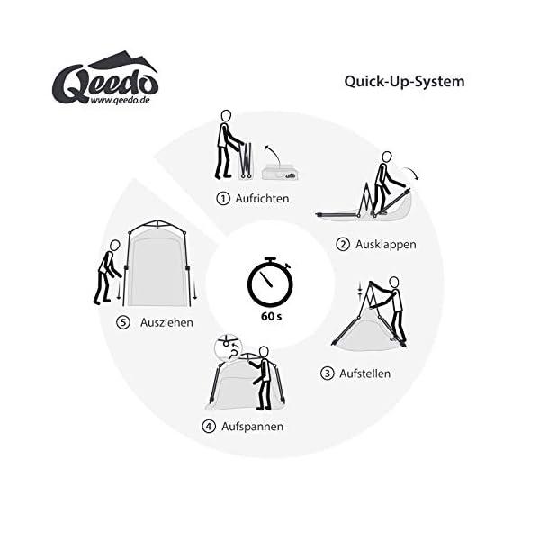41WS4XC9 QL Qeedo Quick Shower Cabin Camping Duschzelt und Umkleidezelt (Blickdicht) 2m Höhe