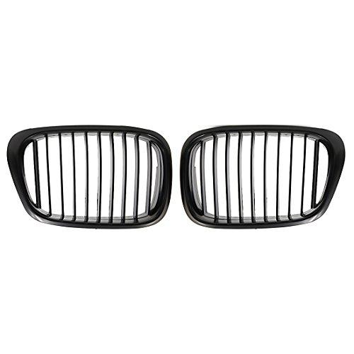 uxcell Car Matte Black Front Kidney Grille Grill For 97-03 BMW E39 5 Series 525i 528i 530i 540i M5 4-Door
